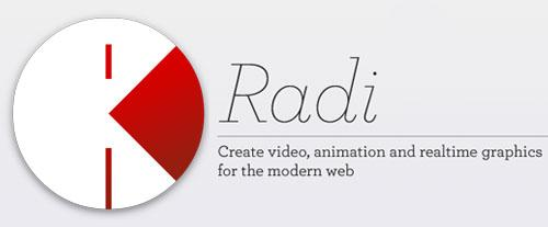 Radi: Visual Design Application with HTML5 and Javascript