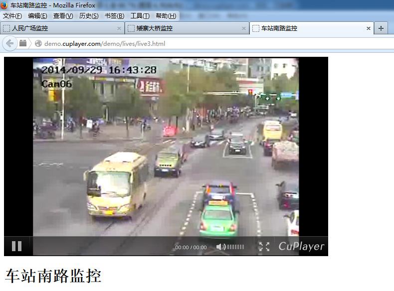 RTSP视频监控WEB截图效果